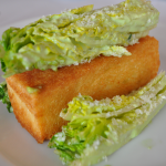 Appetizer: Deconstructed Caesar with a Brioche Twinkie
